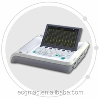 portable 12 lead ECG machine support USB printer, SD card, Network!