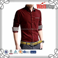 2015 new thick warm mens heavy cotton corduroy shirt