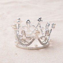 HG191 Children's crown princess crown wholesale diamond pearl full crown for kids
