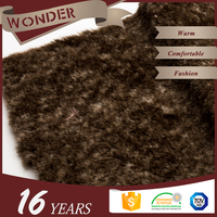 Fabric Textiles Cheap Price Brown Snuff Rabbit Hair Faux Rabbit Fur