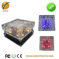Best quality colorful glass led solar garden sensor light