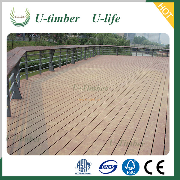 Solid adjustable deck waterproof and anti-slip wpc floor decking
