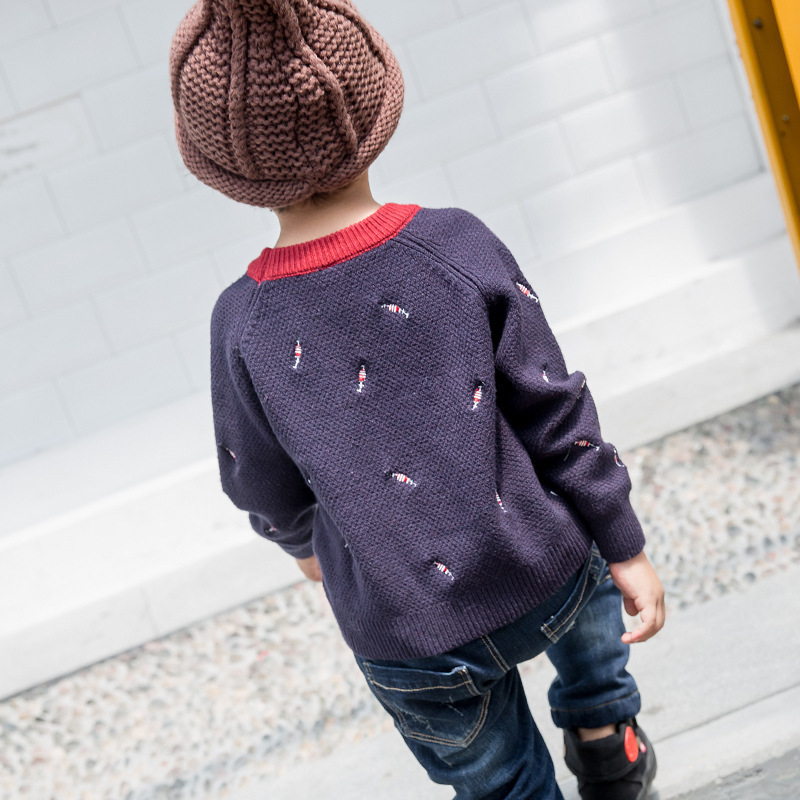 Autumn Baby Boys Sweaters Kids Knitted Bottoming Sweaters Vetement Enfant