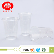 Reusable 350ml disposable large plastic edible cups with APET material