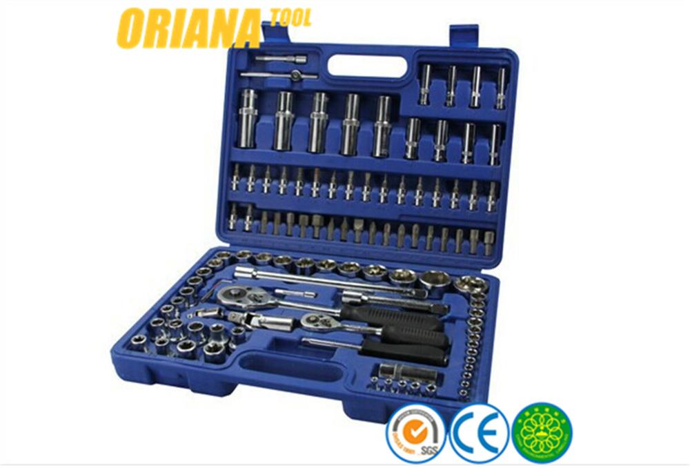 hand tool set with blow moud case 108pc socket set