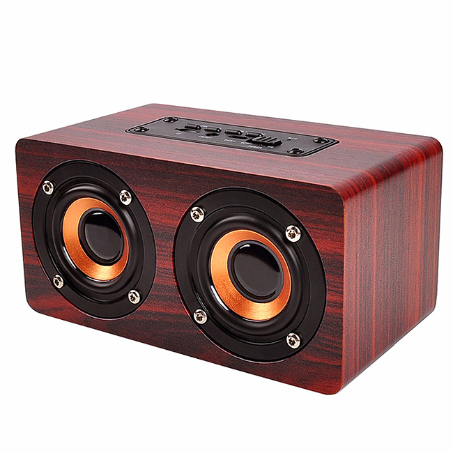 Wholesale Amazon hot selling mini portable wireless good sound super bass wood hifi wireless <strong>speaker</strong>