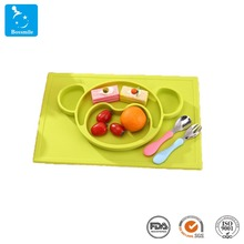Amazon hot baby silicone feeding mat custom heat resistant table placemat for <strong>kids</strong>