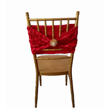 Wholesale Customized Wedding Red Cheap Chair Sashes