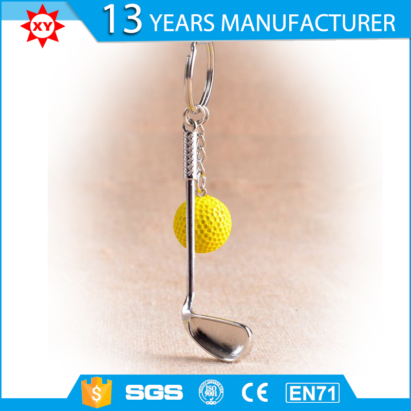 2017 design alloy Golf costom keychain