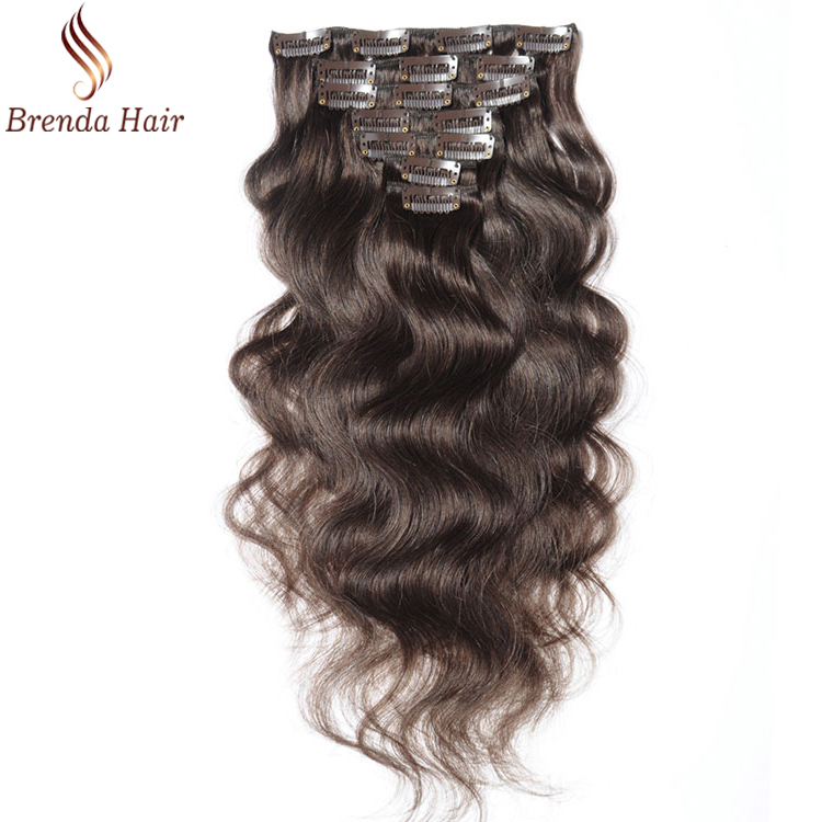 160g 180g 200g 220g 100% human hair body wave factory direct sale clip on hair extensions