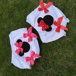 girls cotton bloomer minnie bloomer kids white bloomer 2-pc set