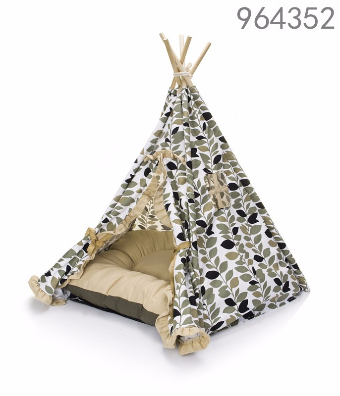 wholesale hot best selling new products 2016 cat accessories indoor nature dot dog pet bed teepee tents for medium cat dogs