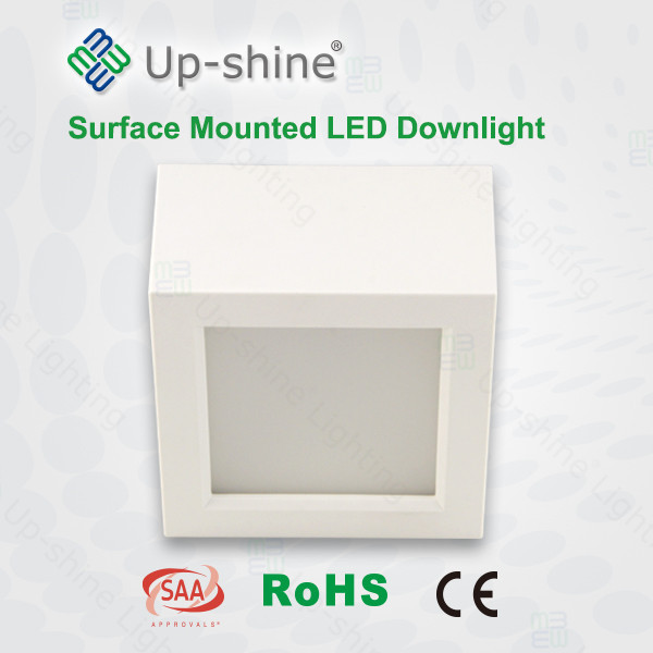 upshine lighting ce rohs saa 8w 15w 18w 87lm/w dimmable squared led downlight waterproof led ceiling downlights