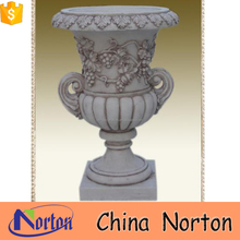 grape carving marble flower pot shape for sale NTMF- FP220X
