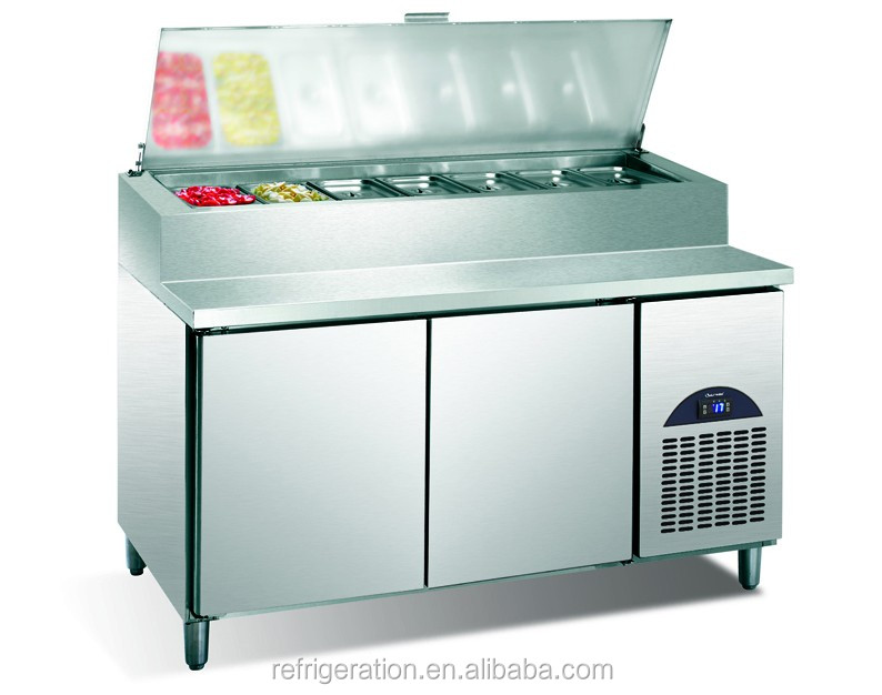G0.5L2FPZ Surpass Kitchen Stainless steel Refrigerated Pizza Preparation Table