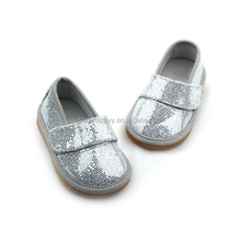 Wholesale Sliver Hard Sole Baby Musical Shoes