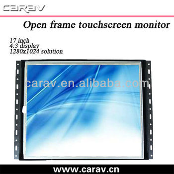 "Touch screen metal case 17"" open frame monitors touch screen lcd monitor 12V for ATM/KOISK,resolution 1280x1024"