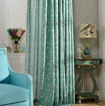 Exceptionnel Living Room Curtain Fabric, Crest Home Design Curtains, Embroidered Fabric