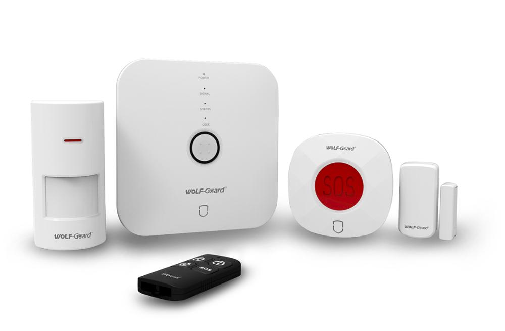 Wireless WIFI smart home security alarm kit support IP camera in APP