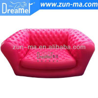 Full handmade pvc high back inflatable chesterfield sofa