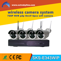 4 Channel 720p Video Recorder CCTV NVR 4 x 1.0MP Wifi Outdoor Network IP Cameras Wireless Camera system