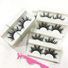 Siberian mink fur false lashes dramatic long lasting 3d mink eyelashes private label