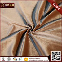 Customized type screen printing silk velvet fabric