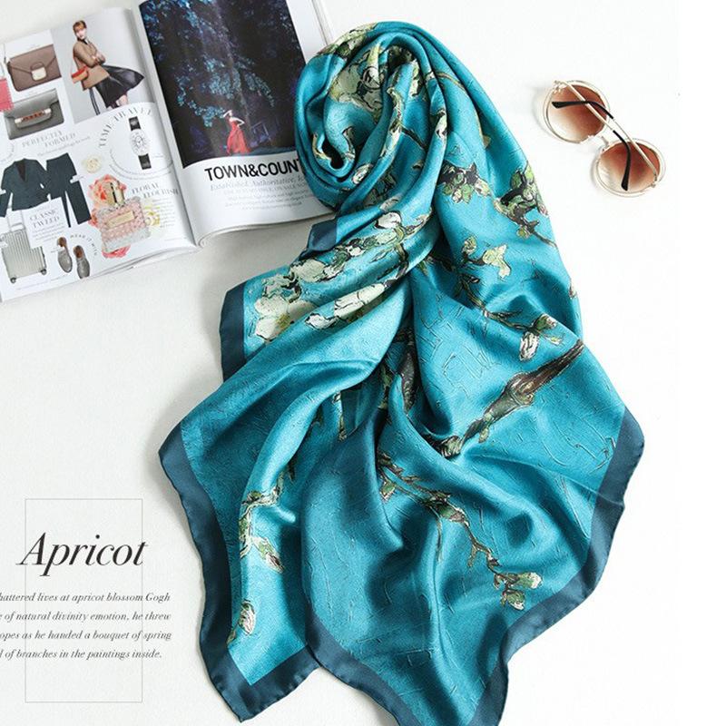 latest designs printed pashmina shawl 100% silk scarf hijab