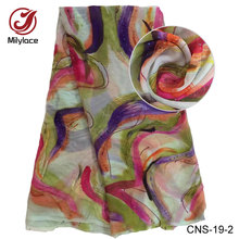 Indian 100% colorful Crinkle Chiffon Silk Brocade Fabric CNS-19