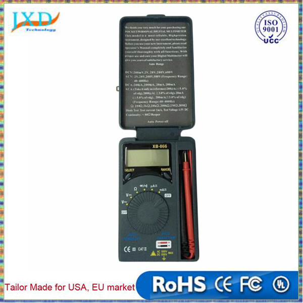 Professional Hot Auto Range LCD Mini Voltmeter Tester Tool AC/DC Pocket Digital Multimeter