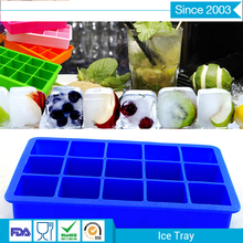Unbreakable square Shape Silicone Ice Cube Tray,large Personalized Ice Cube Trays