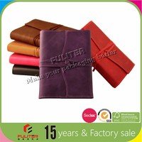 Pu leather bound genuine notebook journal cover