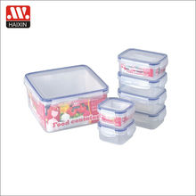 take away transparent clear plastic food packaging box