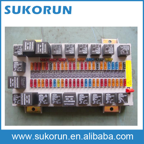 Popular bus parts Kinglong 6127 Fuse table assy