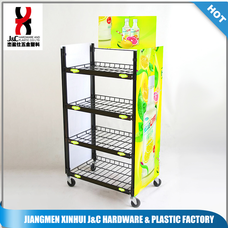 Commercial Usage Chain Store And Supermarket Beverage metal Display Rack