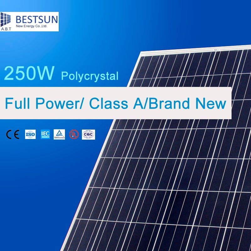 Poly solar module 230W-250W with 156*156 solar cell for solar energy system home/commercial use