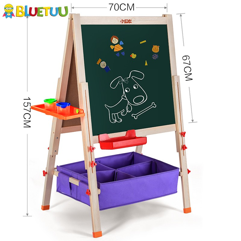 Deluxe wooden portable smart children stand board for kids toy