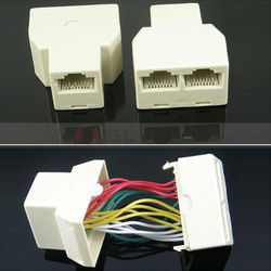 RJ45 8P8C Network Cable 2 Way Y Splitter Double Adapter 3 Port Ethernet LAN Coupler And Extender Plug Coupler