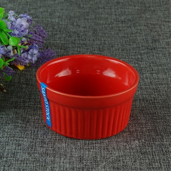 Colorful Red Porcelain Salad Bowl Black Cheap Pasta Bowl