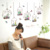 Potted green plant cactus flower pot wall sticker for kids decoration living room waterproof removable murals