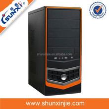 orange side rein super tower pc case normal atx computer super tower pc case