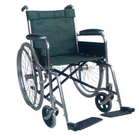 lightweight Steel Manual Economy type Wheelchair for elderly and handicapped