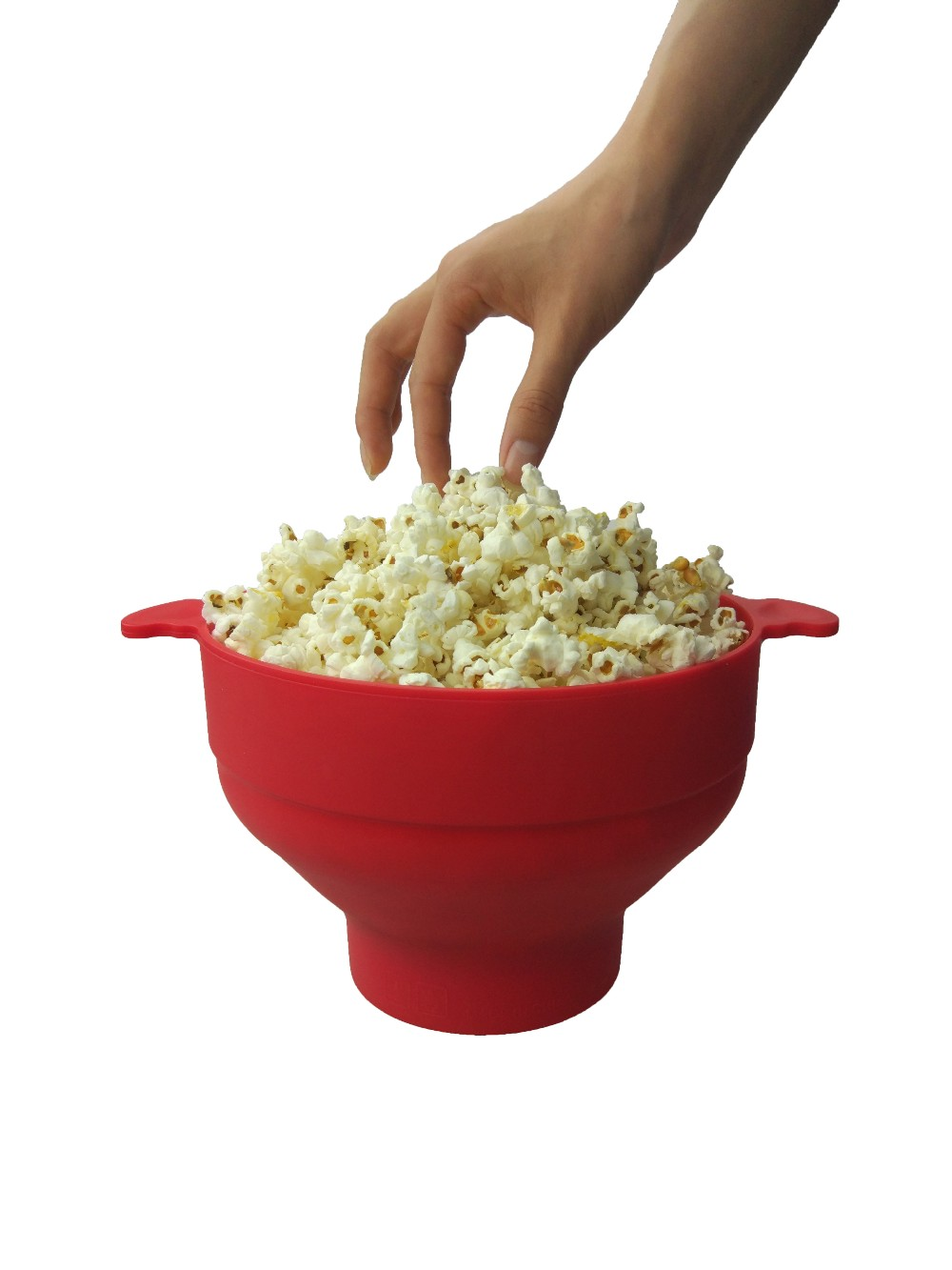 Custom Logo Printed Microwave Silicone Popcorn Popper, Collapsible Popcorn Maker