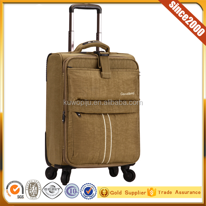 nylon laptop luggage trolley bag belt luggage travel bags