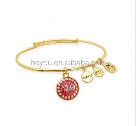 Delta sigma theta ball bead bracelet jewelry buy delta for Delta sigma theta jewelry