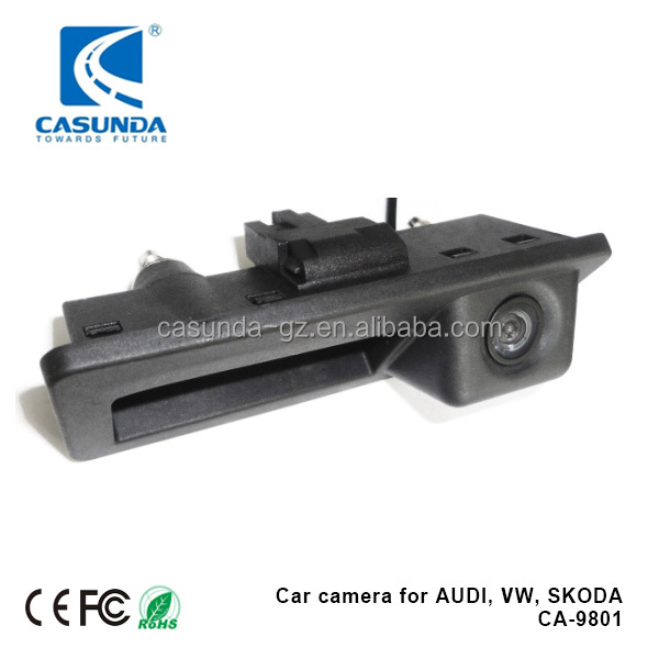 With moving parking lines car black camera tailgate handle bar for for AUDI A6, A1, Q3 and many VW cars
