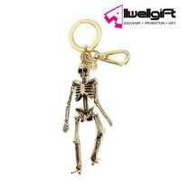alloy material metal keychain unique skeleton key ring