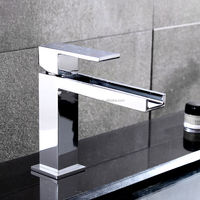 Chrome Brass Bathroom Single Lever Water Basin Faucet