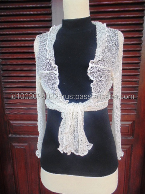 Bali Fancy Knit Cardigan, Bolero