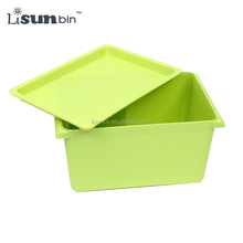 Small size Plastic Eco-friendly Thicken Toy Boxes Storage